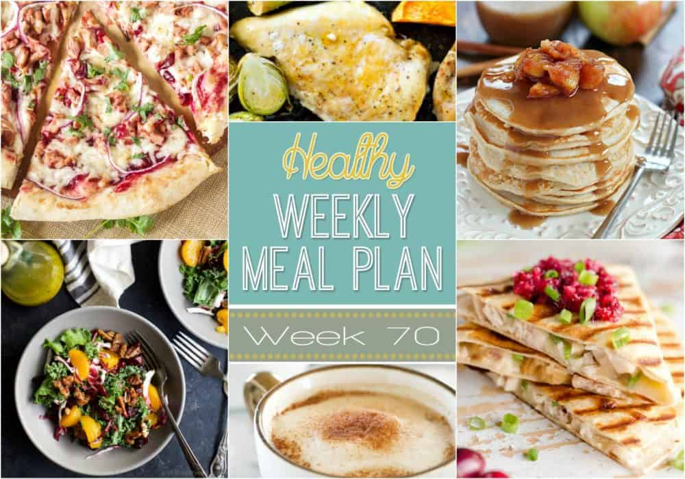 Healthy Meal Plan Week #70 Easy Healthy Recipes - breakfast lunch and dinner meal plan for a week