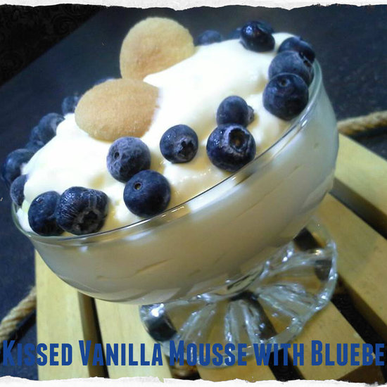 vanilla mousse with blueberries