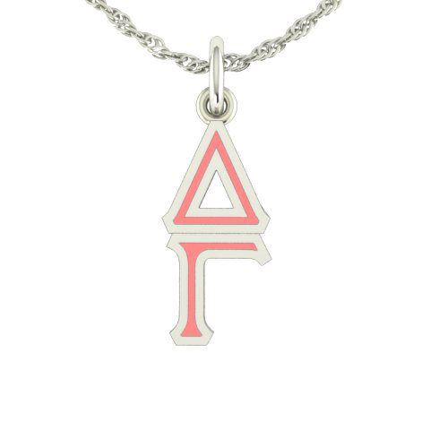 Sterling Silver Delta Gamma Lavaliere Necklace C211-LS Joy Jewelers