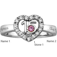 Quinceanera Ring with Custom Stones | Joy Jewelers