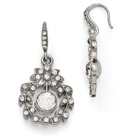 Silver-tone Downton Abbey Crystal Garland Dangle Earrings ...