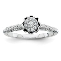 1/3ct Diamond Crown Promise Ring QR4038 | Joy Jewelers