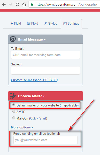 The web form can\u0027t send emails?