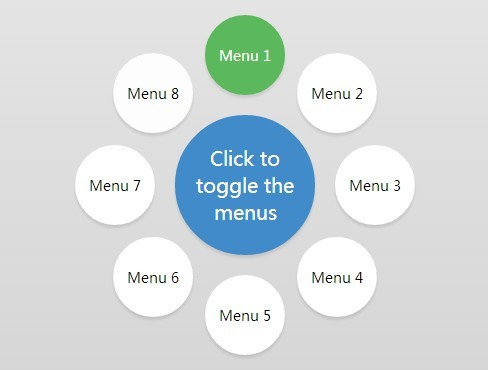 Animated Circle Menu with jQuery and CSS3 Free jQuery Plugins - animation circles