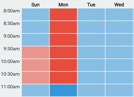 Create A Basic Weekly Schedule with Hour Selector Using jQuery