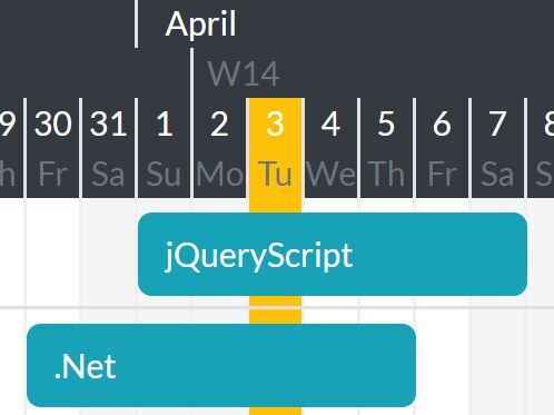 Dynamic Customizable Gantt Chart Plugin - jQuery ganttChart Free - gantt chart