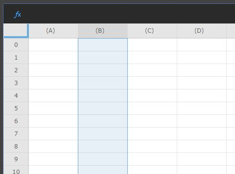 Google Sheets Style Feature Rich jQuery Spreadsheet Plugin - ipgrid