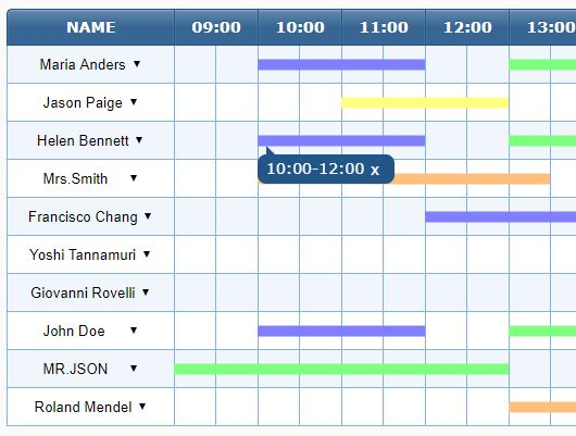 jQuery Schedule Plugins jQuery Script