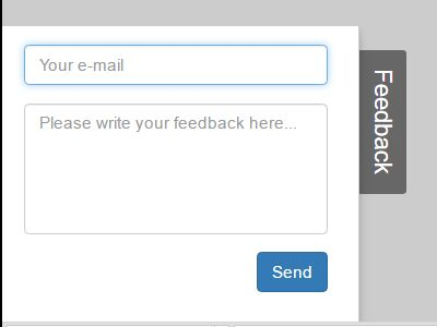Minimal Side Feedback Form Using jQuery And Bootstrap - feedback - free feedback form