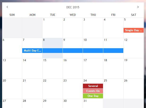jQuery Calendar Plugins jQuery Script - event calendar templates
