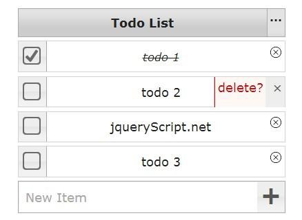 jQuery todo list Plugins jQuery Script
