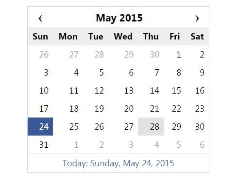 Simple jQuery Calendar and Date Picker Plugin - DCalendar Free