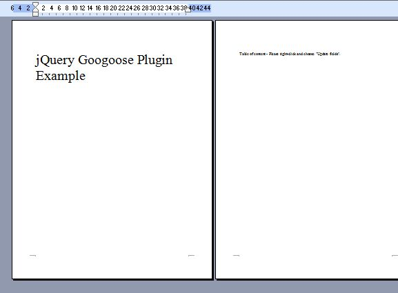 jQuery Plugin To Save Webpage As MS Word Document - Googoose Free