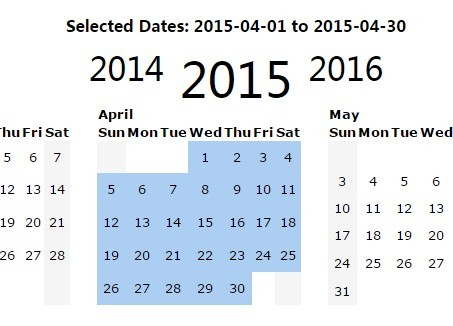 jQuery Yearly Calendar  Date Range Picker Plugin Free jQuery Plugins - yearly calendar