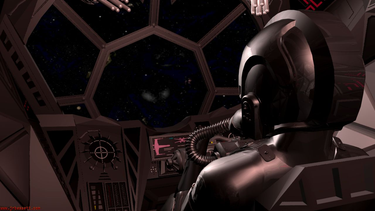 Www 3d Wallpaper Download Com Star Wars Tie Fighter With Pilot 3ds Projects In Work 4