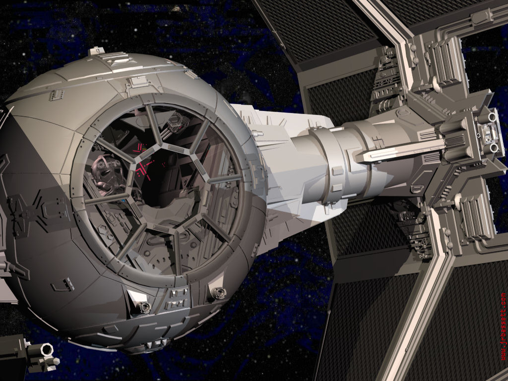 Star Wars Wallpaper 3d Star Wars Tie Interceptor With Pilot 3ds Projects In Work