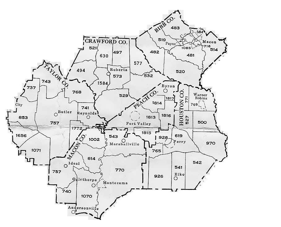 Georgia General Militia Districts