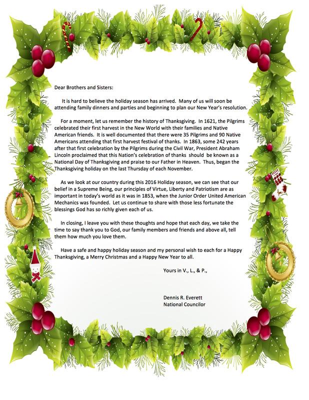 National Councilor\u0027s Holiday Letter - JrOUAM