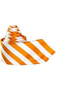 JSS Mens Orange & White striped silk tie - JSS from Jenson ...