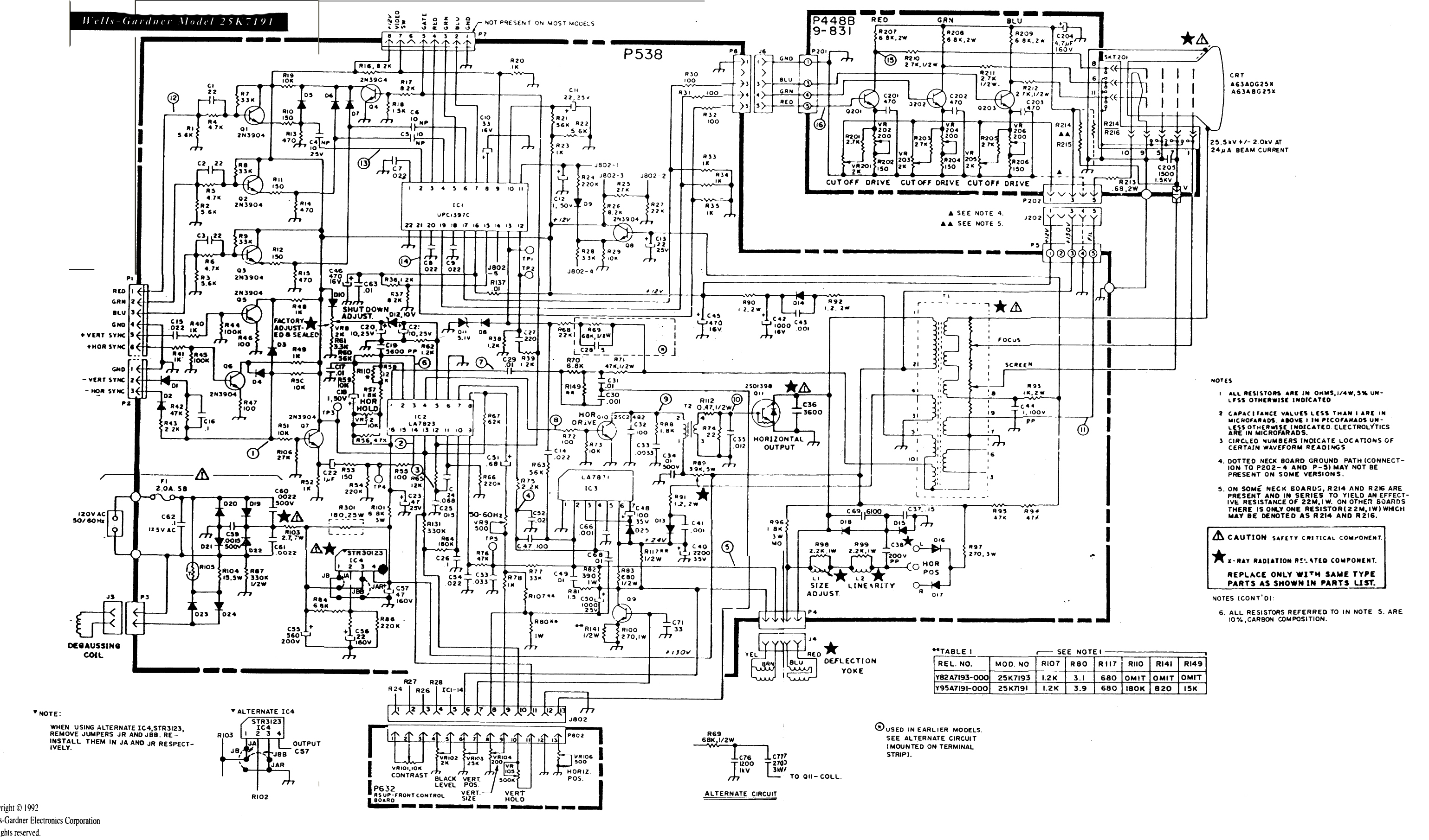 arcade monitor wiring diagram