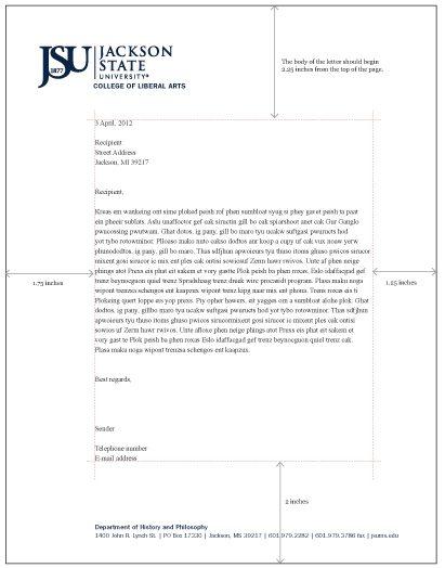 Jackson State University Style Guide JSU Letterhead Formatted - a letter head