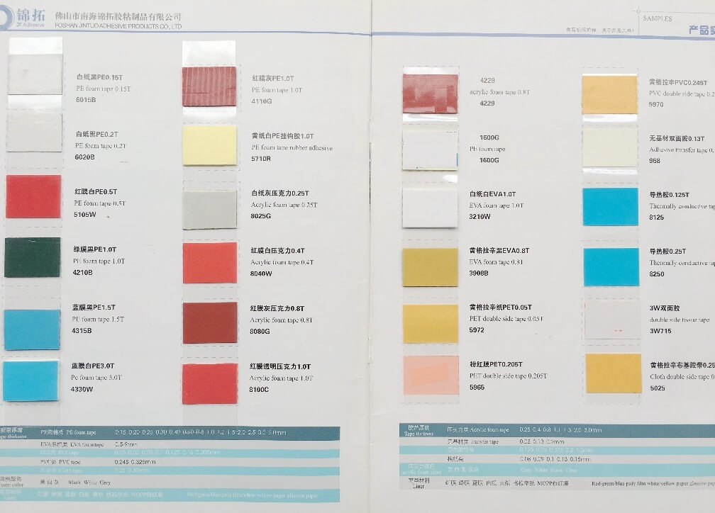 China Shenzhen International adhesive tape and protective film Expo - product list samples