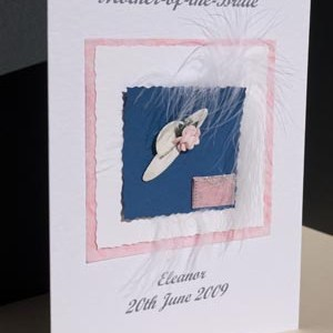 Mother of the Bride Wedding Card Angle - Ref P143