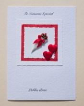 Bouquet Valentines Card Front - Ref P146b