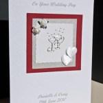 Champagne Glasses Wedding Card Angle - Ref P149