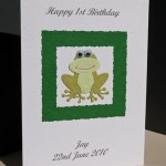 Frog - Boys Birthday Card Angle - Ref P162