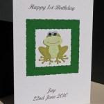 Frog - Boys Birthday Card Angle - Ref P162