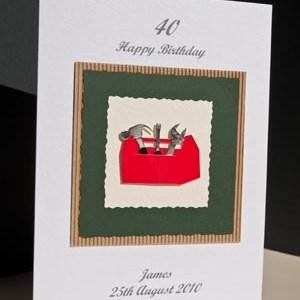 Tool box - Men's Birthday Card Angle - Ref P166