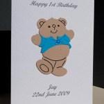 Harvey Bear - Boys Birthday Card Angle - Ref P172