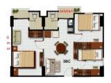 layout ruangan 3 BR hoek.