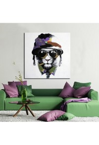 Racing Cat - Hand-Painted Modern Home decor wall art oil ...