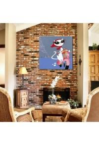 Cat on Bike - Hand-Painted Modern Home decor wall art oil ...