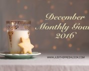 Monthly Goals December Edition