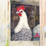 """Free Range Sister IISOLDPaper Collage on Canvas24"""" x 24"""""""