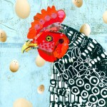 """Happy EggsSOLDPaper Collage on Canvas16"""" x 20"""""""