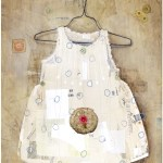 """Grandma's Pin CushionSOLDPaper Collage on Canvas24"""" x 30"""""""
