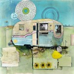 """Trailer TrashFound Trash and Paper on Panel20"""" x 20"""""""