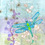 Dragon Fly 2          SOLD            Cut Paper on Wood Panel       10″ x 10″