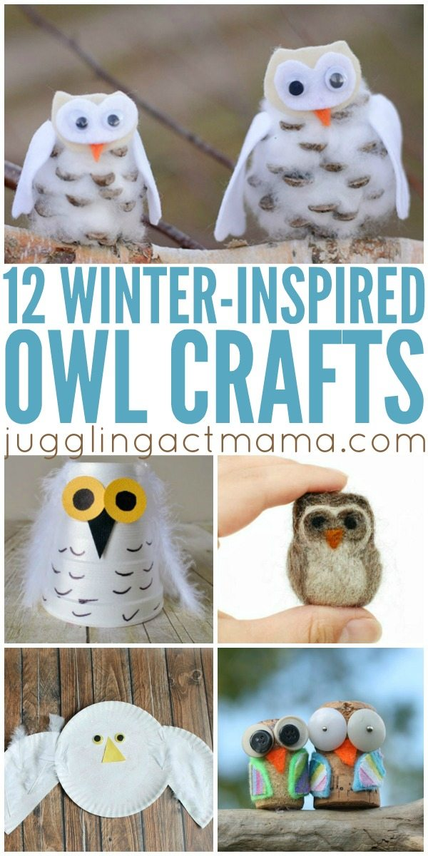 12 Wintry Owl Crafts - Juggling Act Mama