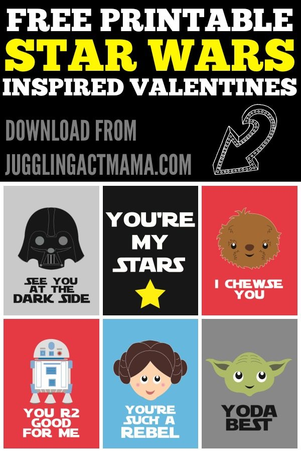 Star Wars Valentine Party Printables - Juggling Act Mama