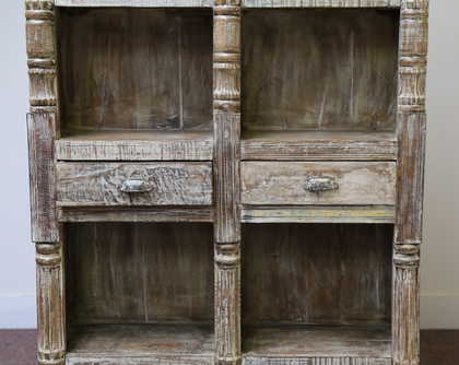 Unusual Large Double Bookcase Jugs Indian Furniture Uk