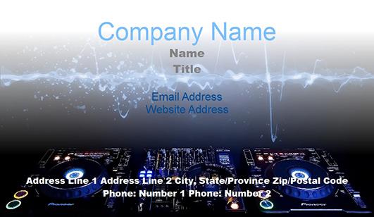 DJ business card templates - JuicyBC Blog