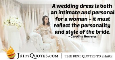 Bride Wedding Dress Quote - (With Picture)