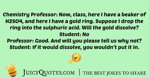 Chemistry Professor Joke - (With Picture)