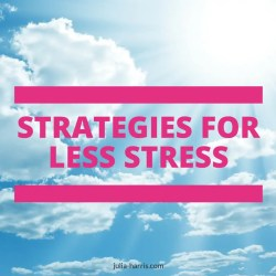 strategies for less stress