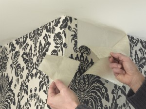 Wallpapering a room